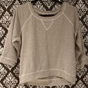 Eyelash Couture sz M gray sweatshirt 3/4 length